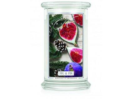 Kringle Candle svíčka Fig & Fir, 623 g