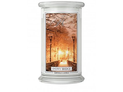 Kringle Candle svíčka Snowy Bridge, 623 g