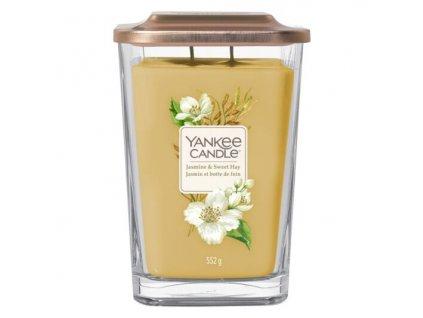 Yankee Candle Svíčka Elevation Jasmine & Sweet Hay velká, 553 g