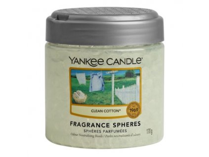 Yankee Candle Clean Cotton Voňavé perly Spheres, 170 g