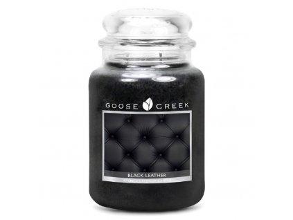 Goose Creek Candle svíčka Černá kůže, 680 g