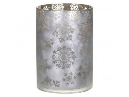 Yankee Candle skleněný svícen na velkou a střední svíčku Snowflake Frost