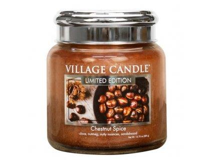 Village Candle Vonná svíčka Chestnut Spice, 389 g