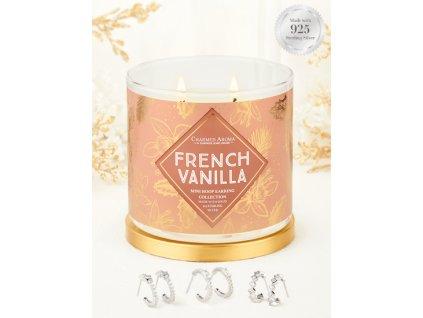 Charmed Aroma svíčka French Vanilla (náušnice), 340 g
