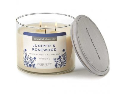 Candle-Lite Essential Elements svíčka Juniper & Rosewood, 418 g