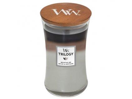 WoodWick Trilogy Mountain Air Svíčka váza velká, 609,5 g