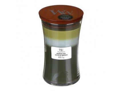 WoodWick Trilogy Mountain Trail Svíčka váza velká, 609,5 g