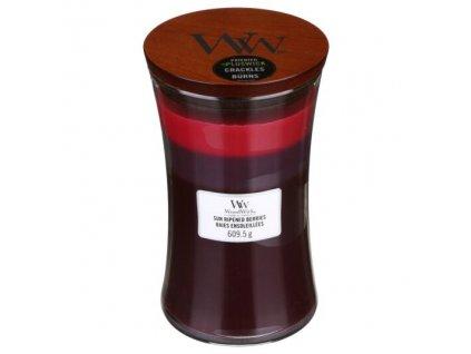 WoodWick Trilogy Sun Ripened Berries Svíčka váza velká, 609,5 g