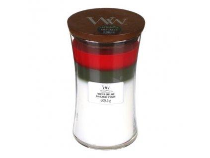 WoodWick Trilogy Winter Garland Svíčka váza velká, 609,5 g