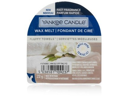 Yankee Candle - Fluffy Towels Vosk do aromalampy nový 2021, 22 g