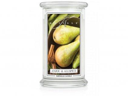 Kringle Candle svíčka Anjou & Allspice, 623 g