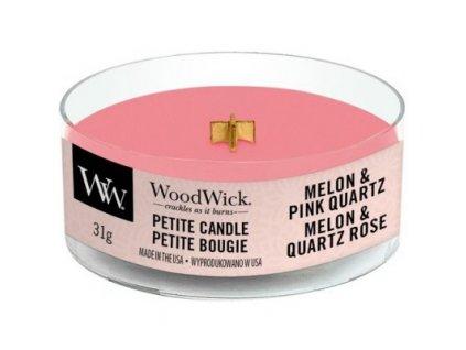 WoodWick Svíčka Petite Melon & Pink Quartz, 31 g