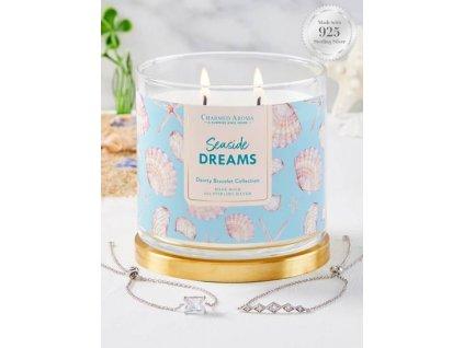 Charmed Aroma svíčka Seaside Dreams (náramek), 340 g
