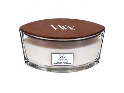 WoodWick Svíčka loď Coconut & Tonka, 453 g