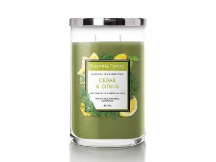 Colonial Candle Clasic válec Cedar & Citrus, 510 g SLEVA