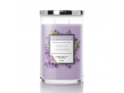 Colonial Candle Clasic válec French Lavender, 510 g SLEVA