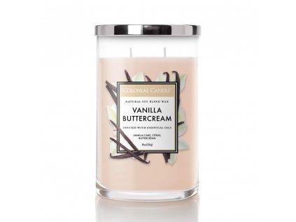 Colonial Candle Clasic válec Vanilla Buttercream, 510 g