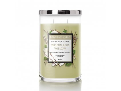 Colonial Candle Clasic válec Woodland Willow, 510 g