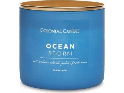pol pm Colonial Candle Pop Of Color sojowa swieca zapachowa w szkle 3 knoty 14 5 oz 411 g Ocean Storm 8272 2