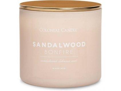 pol pm Colonial Candle Pop Of Color sojowa swieca zapachowa w szkle 3 knoty 14 5 oz 411 g Sandalwood Bonfire 8125 2