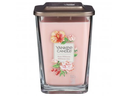 yankee candle 1630526e elevation rose hibiscus large candle 2