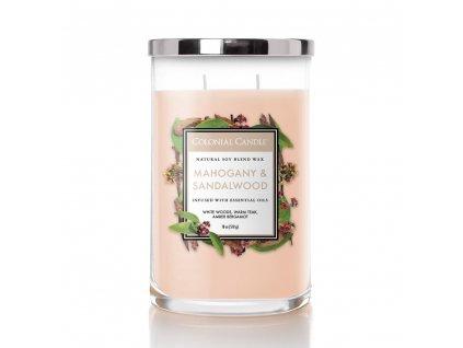 Colonial Candle Clasic válec Mahogany & Sandalwood, 510 g