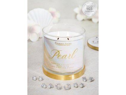 pol pl Charmed Aroma sojowa swieca zapachowa z bizuteria 12 oz 340 g Kolczyki z perla Pearl 7776 1