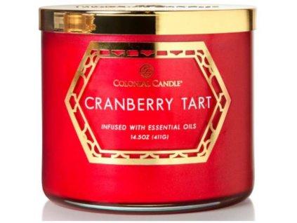 pol pm Colonial Candle Luxe sojowa swieca zapachowa w szkle 3 knoty 14 5 oz 411 g Cranberry Tart 8129 5