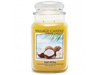 Village Candle Vonná svíčka Den na pláži - Soleil All Day, 602 g