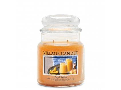 Village Candle Vonná svíčka Broskvové Bellini - Peach Bellini, 389 g