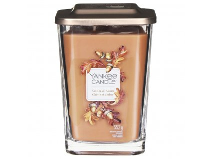 yankee candle 1631297e elevation amber and acorn large candle 2