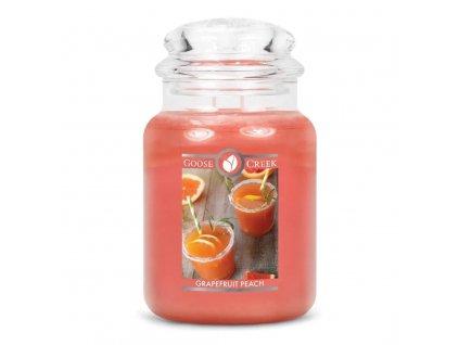 grapefruit peach 2 docht kerze 680g