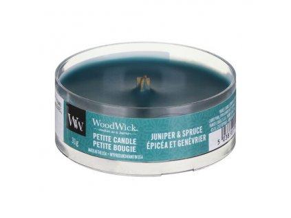 woodwick 1694641e juniper and spice petite candle