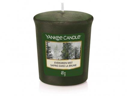 Yankee Candle Vonná Svíčka Votivní Evergreen Mist, 49 g