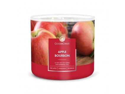 apple bourbon 3 docht kerze 411g