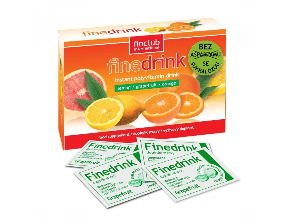 Finedrink sladený sukralózou grep 0,2 l