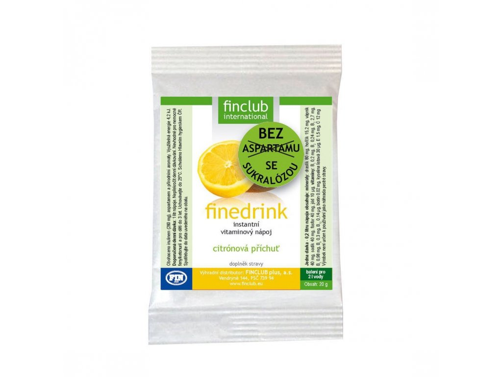 Finedrink sladený sukralózou citrón 20 g