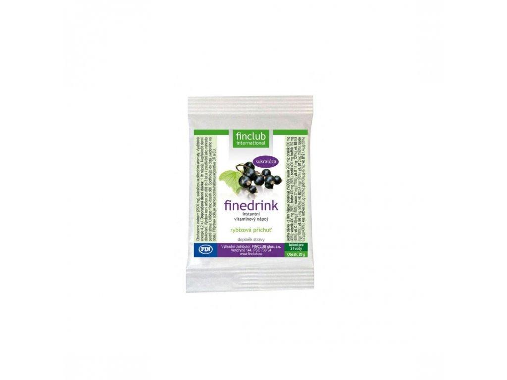 Finedrink sladený sukralózou čierna ríbezľa 20 g