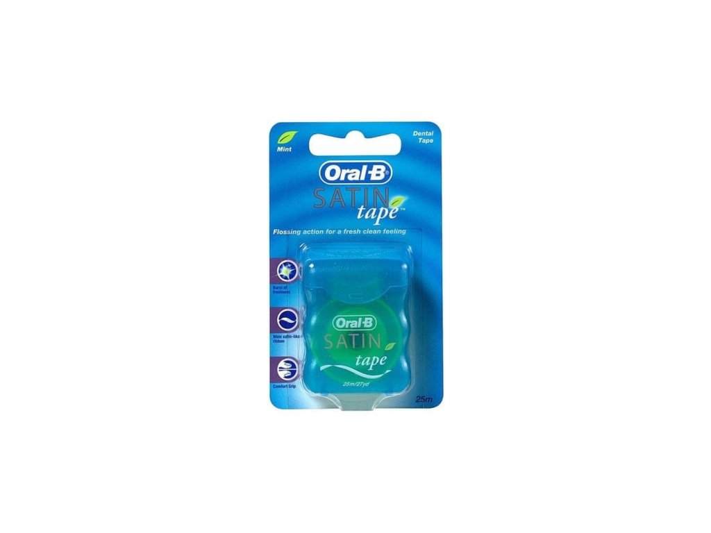 Oral-B Satin Tape zubná nit s mätovou príchuťou 25 m