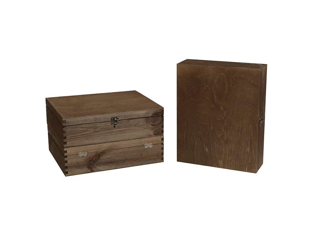 drevena krabicka na 3 vina zatvaracia orechova VK 3 12