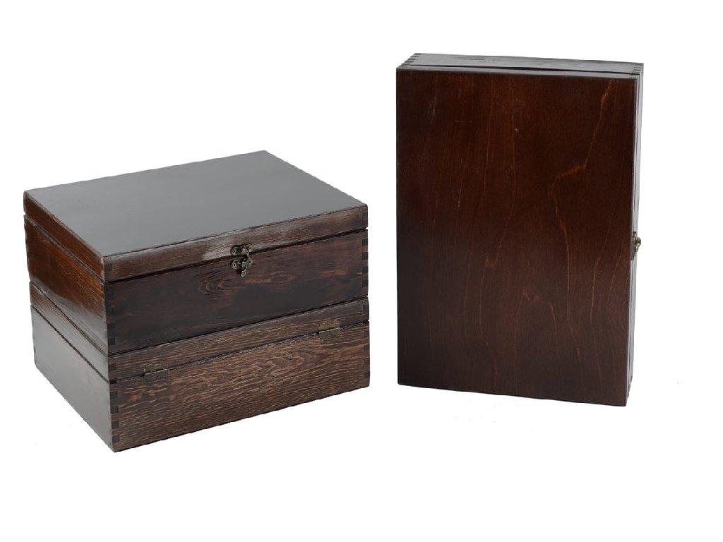 drevena krabicka na 3 vina zatvaracia palisandrova lakovana VK 3 13L