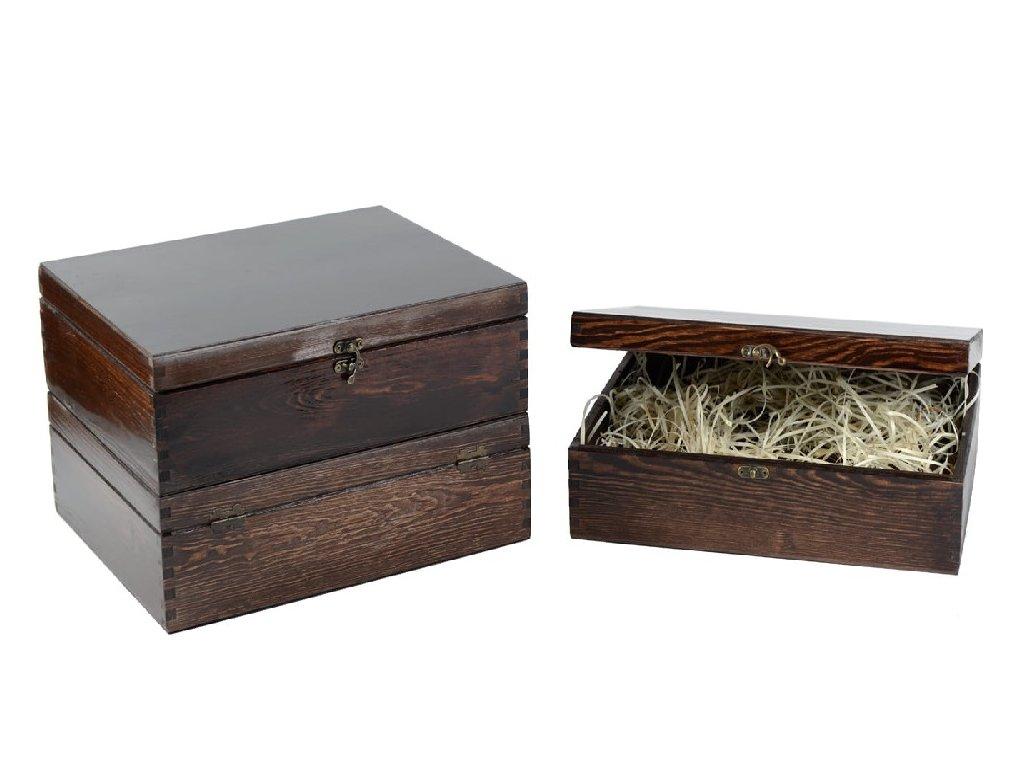 drevena krabicka na 3 vina zatvaracia palisandrova lakovana vypln drevena vlna VK 3 13L W