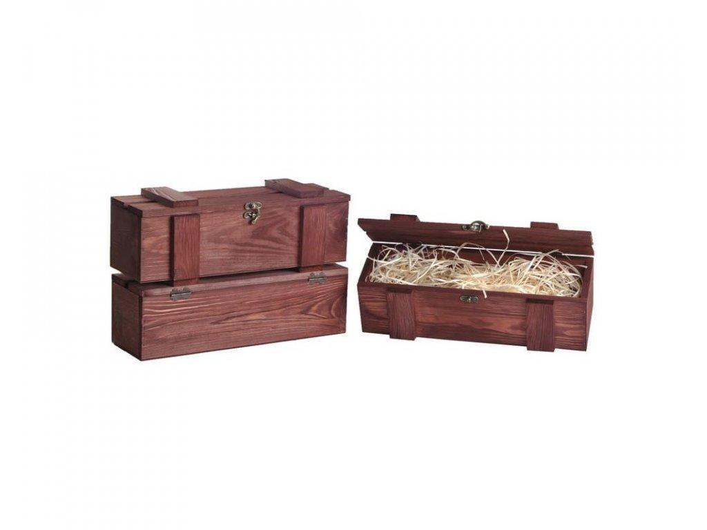 drevena bendicka na jedno víno mahagonova vypln drevena vlna VKS 1 11 W