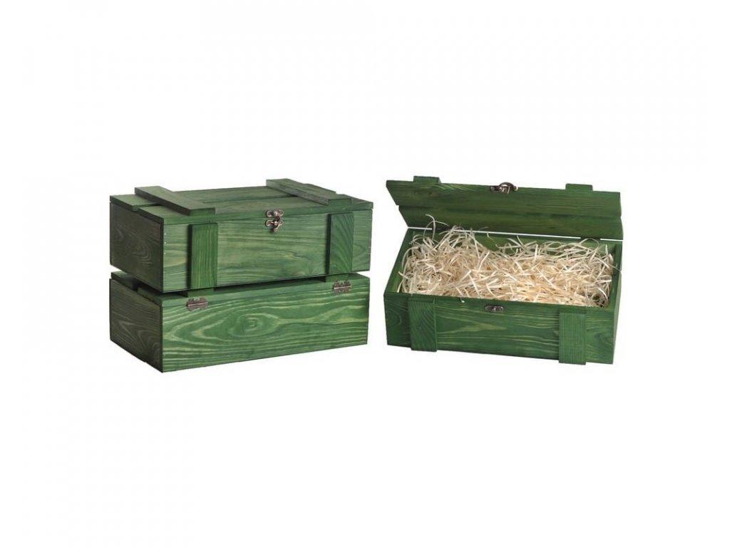 drevena bendicka na dve vina zelena vypln drevena vlna VKS 2 15 W