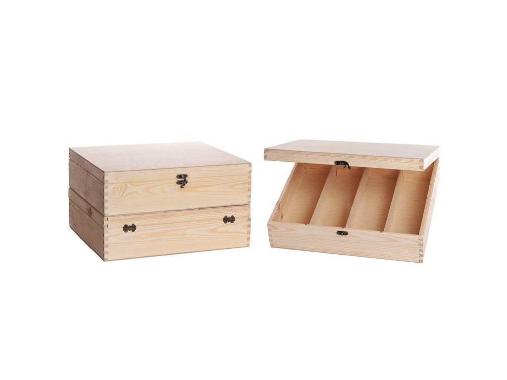drevena krabicka na vino 4 zatvaracia