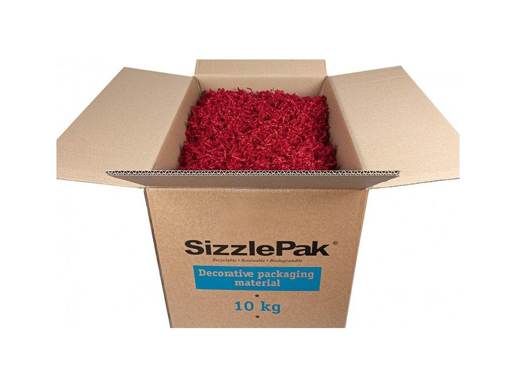 sizzlepak tmavo cerveny 10 kg fixacny material