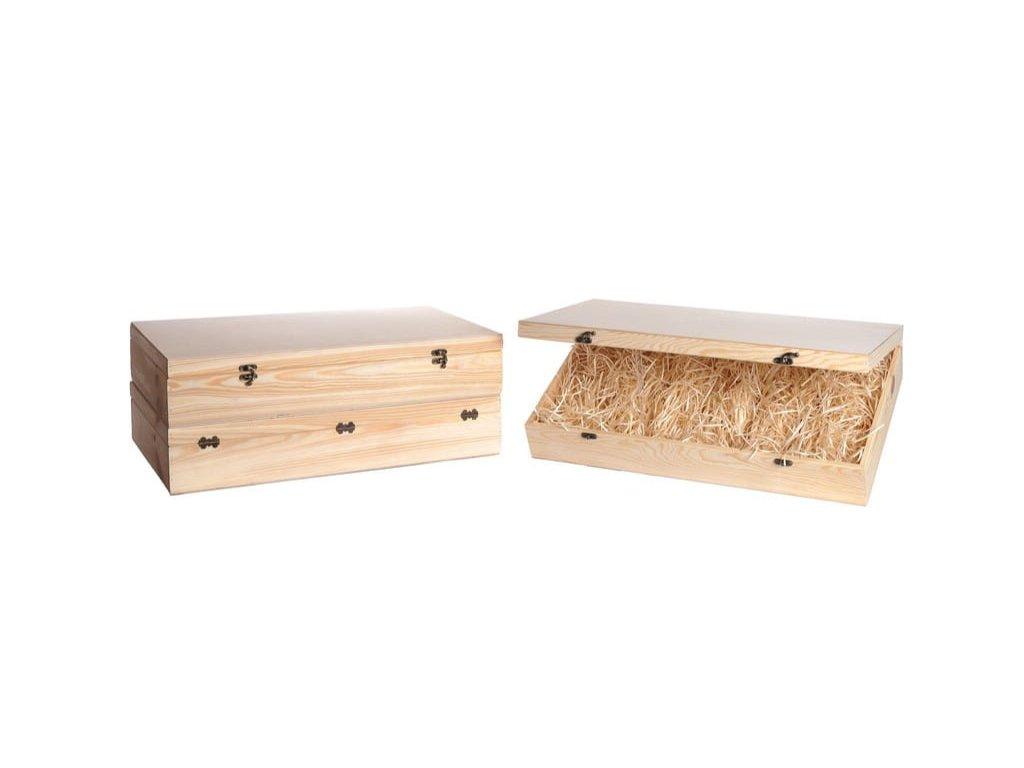 drevena krabicka na vino 5 zatvaracia vypln drevena vlna