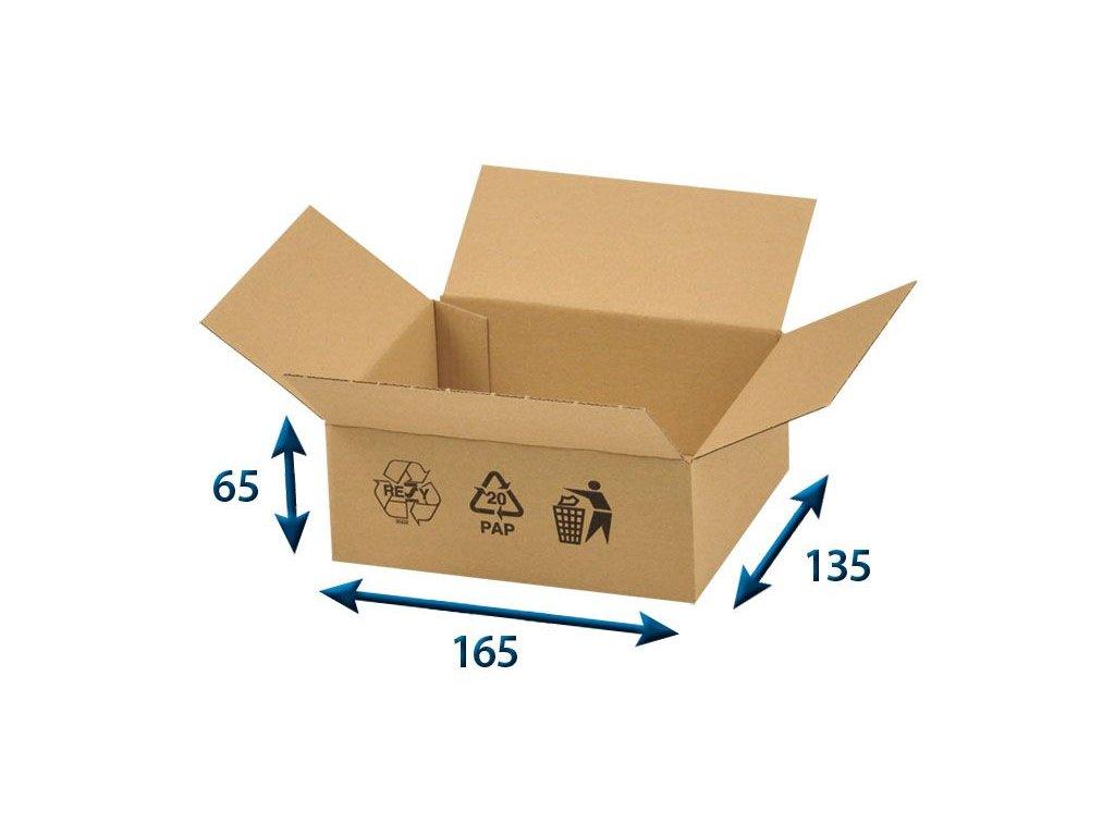 krabica chlopnova 165 x 135 x 65 3vvl