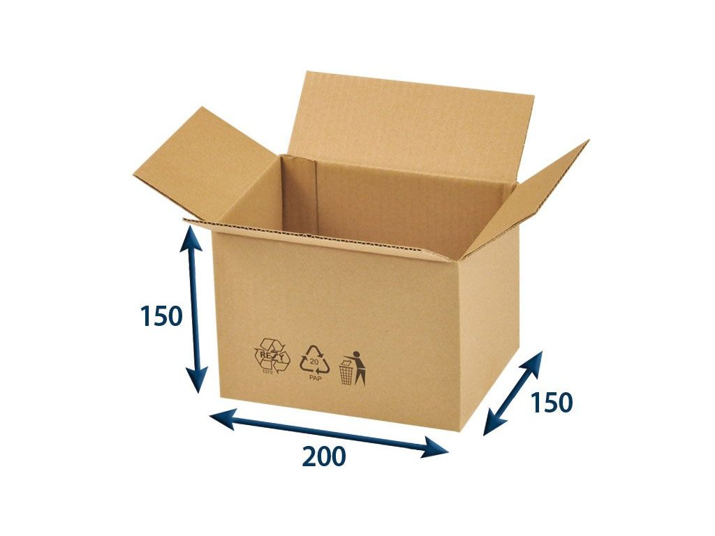 kartonova krabica 200 x 150 x 150 3vvl chlopnova