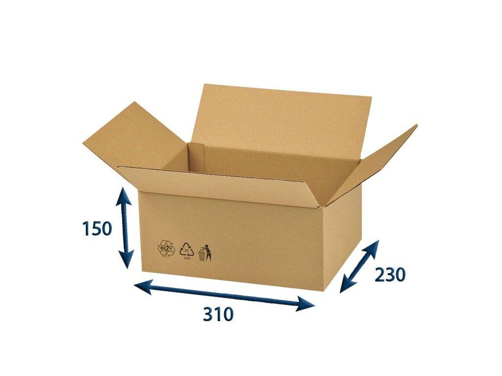 krabica chlopnova 310 x 230 x 150 3vvl